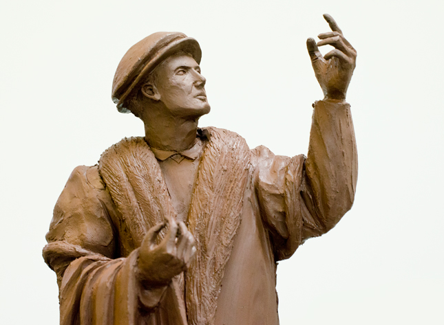 Slideshow Image 2 showing clay maquette of Jack of Newbury